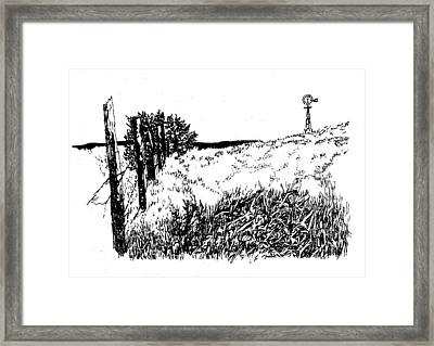Pasture  Framed Print by Jean Ann Curry Hess