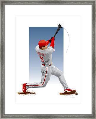Pat The Bat Burrell Framed Print by Scott Weigner