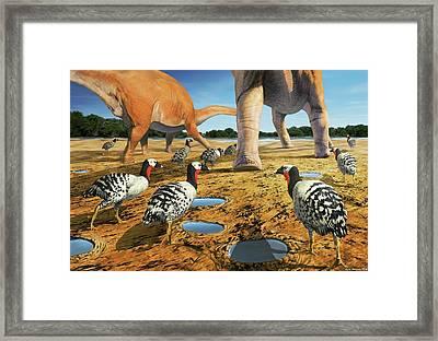 Patagopteryx Framed Print by Jaime Chirinos