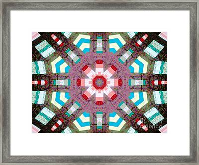 Patchwork Art Framed Print by Barbara Griffin