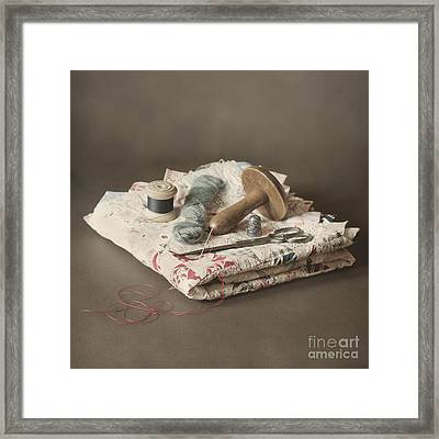 Patchwork Framed Print by Jan Bickerton