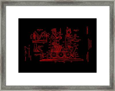 Patent Art 1920 Toy Display Red Framed Print by Lesa Fine