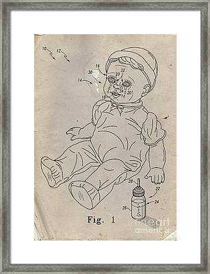 Patent For Crying Baby Doll Framed Print by Edward Fielding
