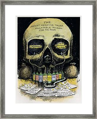 Patent Medicine Cartoon Framed Print by Granger