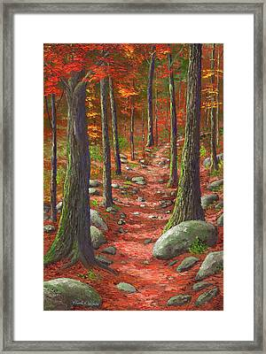 Path In The Autumn Forest Framed Print by Frank Wilson