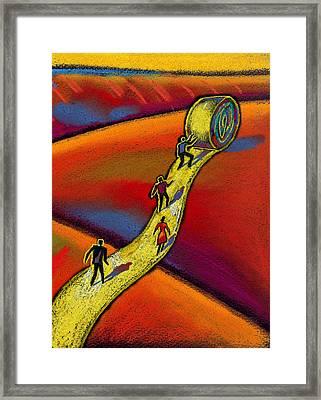 Path Framed Print by Leon Zernitsky
