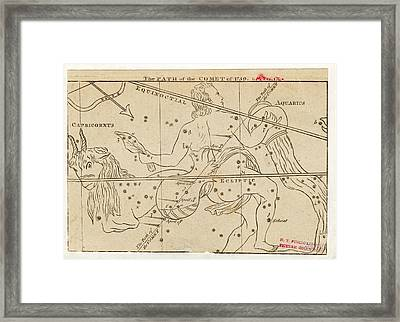 Path Of Halley's Comet Framed Print by Art And Picture Collection/new York Public Library