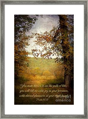 Path Of Life Framed Print by Lena Auxier
