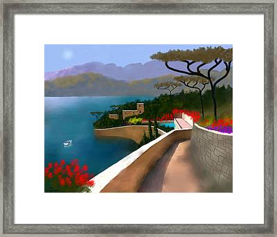 Path Of Splendors Framed Print by Larry Cirigliano