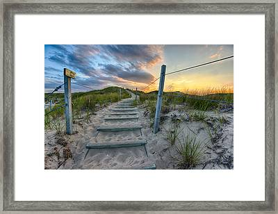 Path Over The Dunes Framed Print by Sebastian Musial