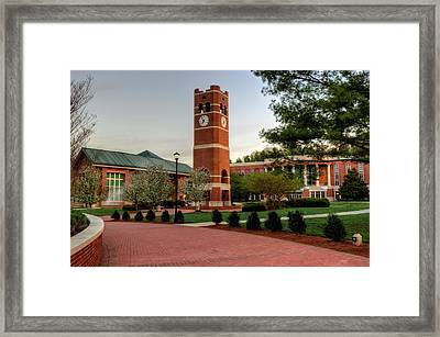 Path To Alumni Tower Framed Print by Greg Mimbs