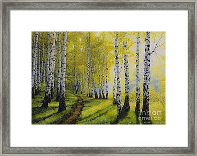 Path To Autumn Framed Print by Veikko Suikkanen