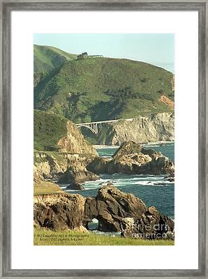 Path To Bixby Bridge Framed Print by DJ Laughlin