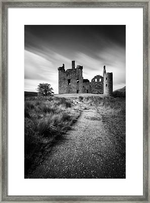 Path To Kilchurn Castle Framed Print by Dave Bowman