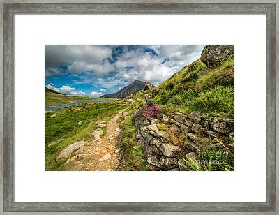 Path To Lake Idwal Framed Print by Adrian Evans