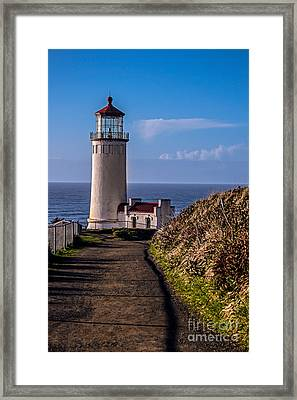 Path To North Head Lighthouse Framed Print by Robert Bales