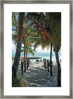 Path To Smathers Beach - Key West Framed Print by Frank Mari
