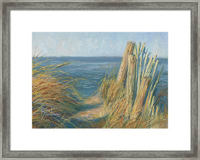 Path To The Beach Framed Print by Lucie Bilodeau