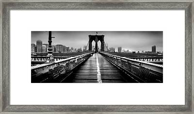 Path To The Big Apple Framed Print by Az Jackson