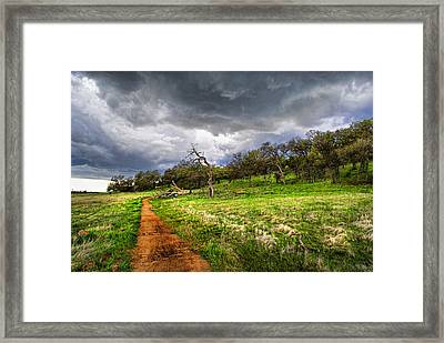 Path To The Clouds Framed Print by Abram House