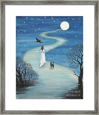 Path To The Moon Framed Print by Margaryta Yermolayeva