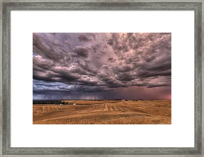 Path To The Storm Framed Print by Mark Kiver
