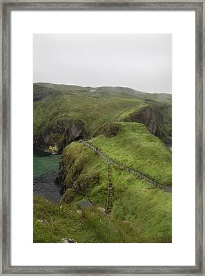 Pathway Carrick-a-rede Northern Ireland Framed Print by Betsy C Knapp
