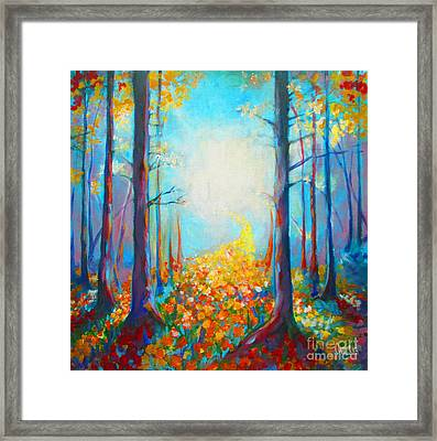 Pathway Framed Print by Tamer and Cindy Elsharouni