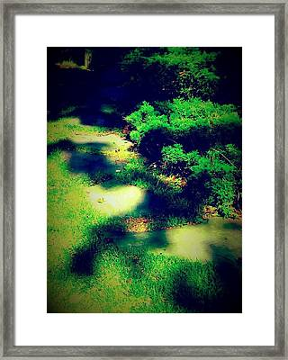 Pathway Of Majik Framed Print by Melissa McCrann