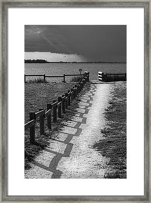 Pathway To The Beach Framed Print by Marvin Spates
