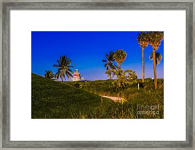 Pathway To The Beach Framed Print by Rene Triay Photography