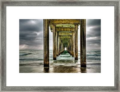 Pathway To The Light Framed Print by Aron Kearney
