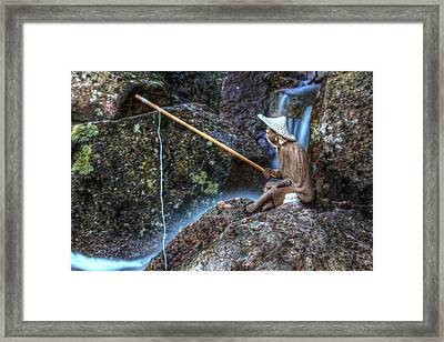 Patient Angler Framed Print by Andrew Pacheco