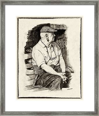 Patiently Waiting Framed Print by Timothy Ramos