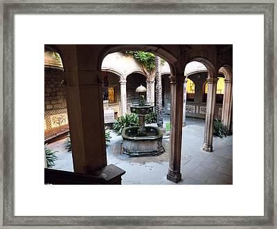 Patio Framed Print by Giorgio Lumaconi