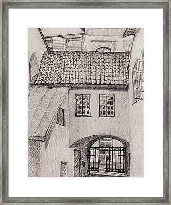 Patio Framed Print by Serge Yudin