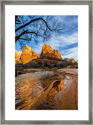 Patriarchs Of Zion Framed Print by Chad Dutson