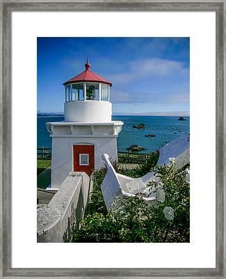 Patrick's Point Lighthouse Framed Print by Jim DeLillo