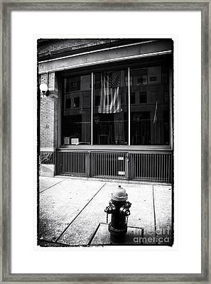 Patriotic Boston Framed Print by John Rizzuto