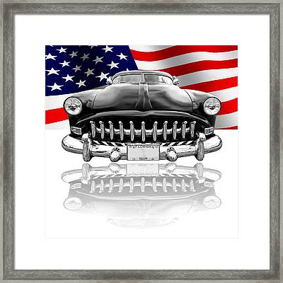 Patriotic Hudson 1952 Framed Print by Gill Billington