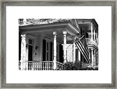 Patriotic On Church St Framed Print by John Rizzuto