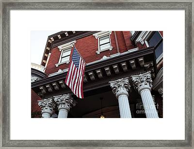 Patriotic Savannah Framed Print by John Rizzuto