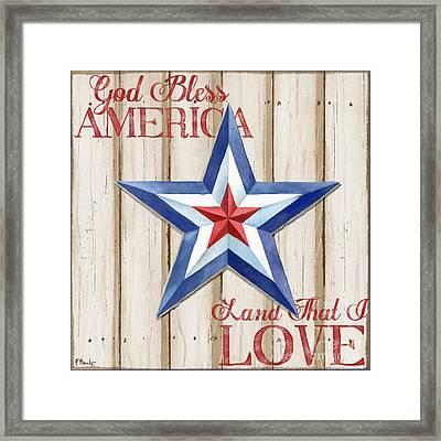 Patriotic Spirit Barn Star IIi Framed Print by Paul Brent