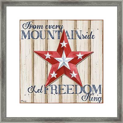 Patriotic Spirit Barn Star Iv Framed Print by Paul Brent