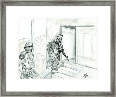Patrol Framed Print by Annette Redman