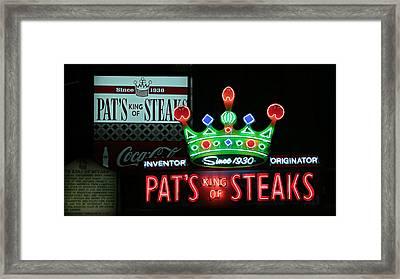 Pat's King Of Steaks Framed Print by Stephen Stookey