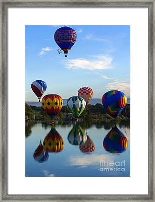 Pattern Of Six Framed Print by Mike Dawson
