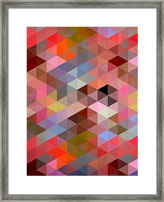 Pattern Of Triangle Framed Print by Mark Ashkenazi