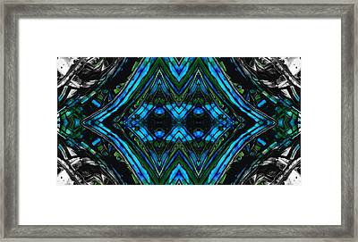 Patterned Art Prints - Cool Change - By Sharon Cummings Framed Print by Sharon Cummings