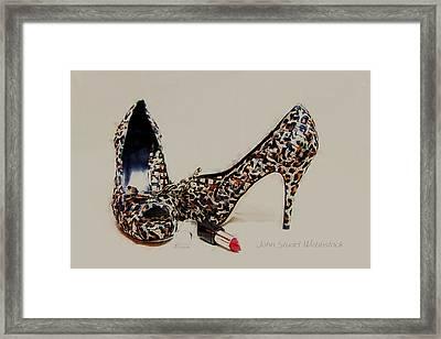 Patterned Heels Framed Print by John Stuart Webbstock